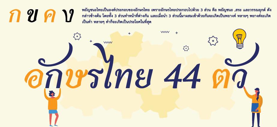 อักษรไทย 44 ตัว
