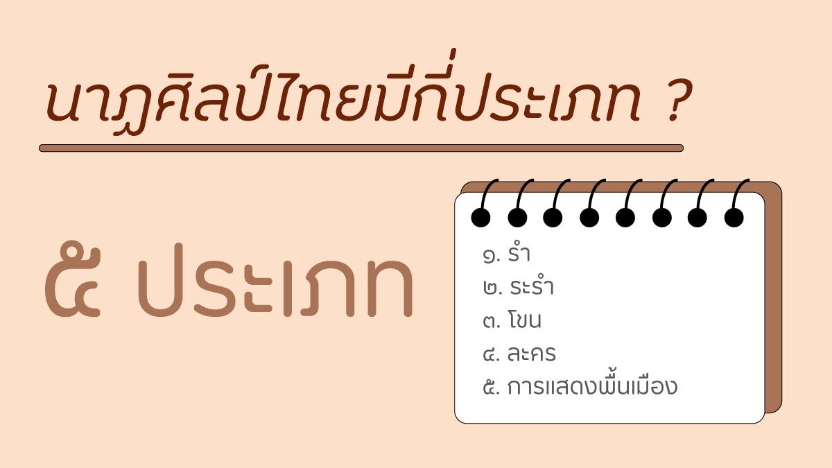 นาฏศิลป์ไทยมีกี่ประเภท