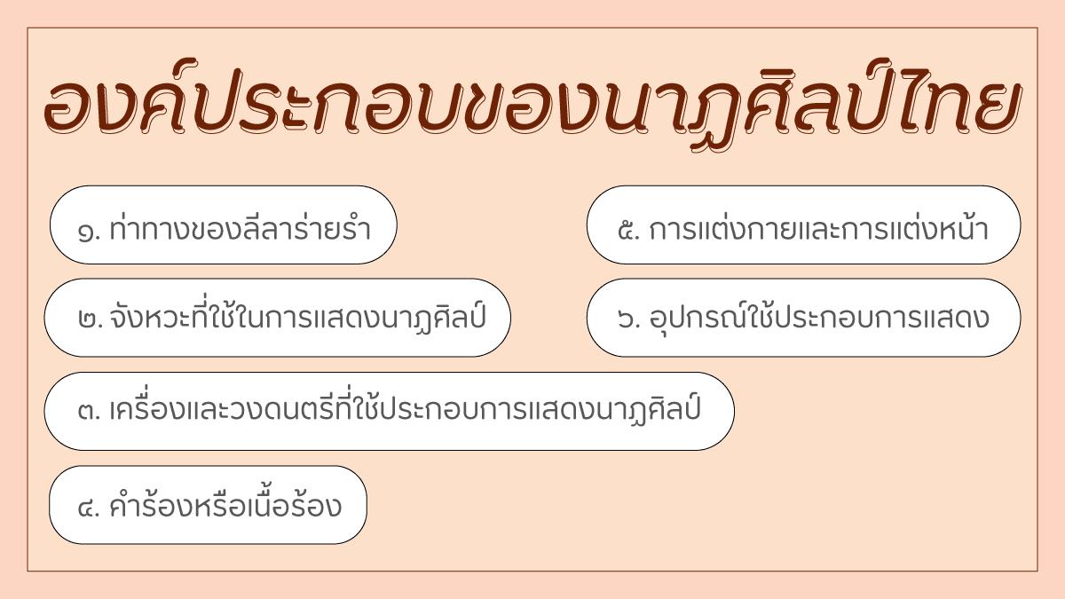 องค์ประกอบของนาฏศิลป์ไทย